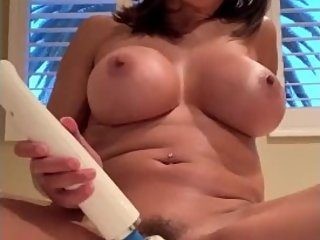 Horny Big Tit Stepmom Needs Huge Vibrator to Orgasm, husband cant satisfy