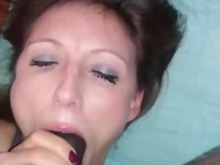 Wet Mouth MILF Deepthroating the BBC
