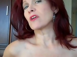 Horny mature stepmom let her stepson cum inside her pussy