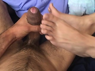 FEMINIST WHORE FOOTJOB! CUM BETWEEN TOES - PetiteSlimThick