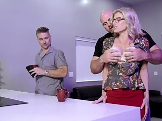 Cheating Milf with Huge Tits Does Anal with the Boss - Cory Chase