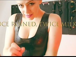 Once Ruined, Twice Milked - Cucked Husband POV watches MILF Femdom Handjob!