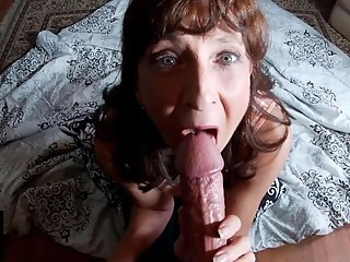 Sexy Milf Marie Sucks A Big Thick Cock