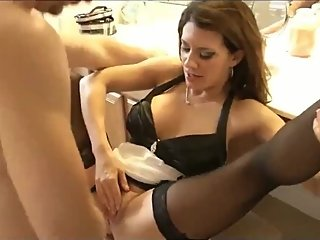Shameless american MILF seduces and fucks her 18yo best friend