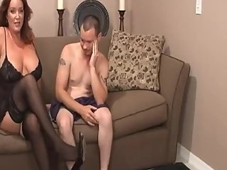 Rachel Steele CustomABN01 - Black stockings & heels Milf resting her feet