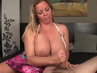 Busty and sexy american MILF made her roommate cum twice