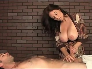 Naughty american stepmom with big tits made her stepson cum