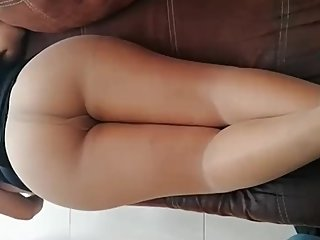 Nylon Footjob ,Masturbation ,Sexy Ass, Huge Cumshot, Pantyhosed Feet.