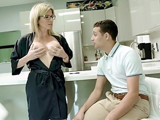 Step Mom with Big Tits Helps Step Son Study for a Test - Cory Chase